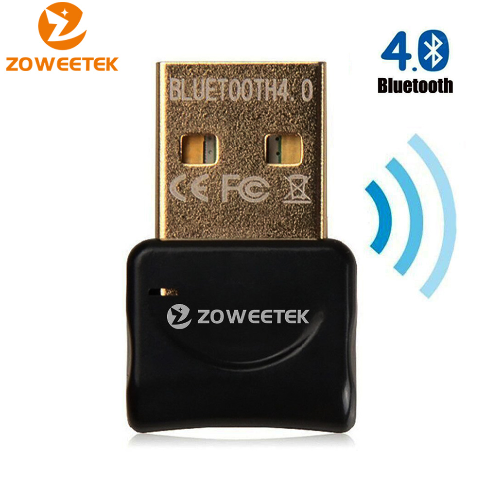 Zoweetek USB Bluetooth Adapter Wireless Bluetooth V4.0 Dongle Audio Transmitter Music Receiver Adaptador for Computer PC Laptop