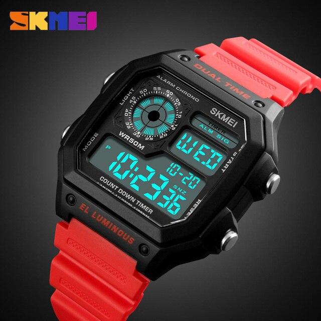 c8482766e96 SKMEI Relógio Esportivo Homens Top Famosa Marca De Luxo LED Digital  Relógios Masculino Relógio Relojes Deportivos