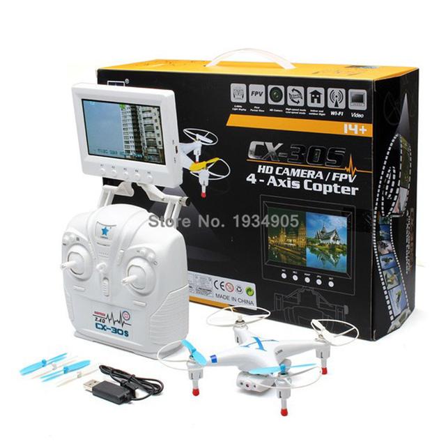 Drones com Câmera WIFI FPV RC Quadcopter Cheerson CX-30s Profissional Helicóptero de Controle Remoto Real-tempo de Transmissão