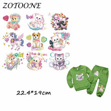 ZOTOONE Cute Unicorn Cat Dog Patch for Clothing Iron-On Garment Heat Transfer Badges Diy Accessory T Shirt Deco Applique Patches