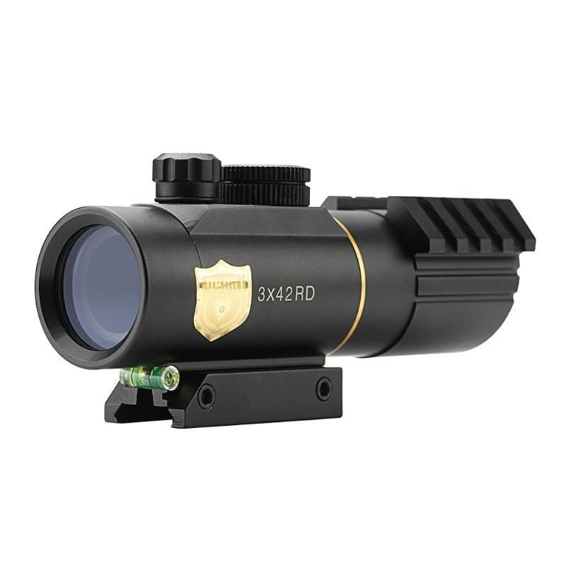 купить 3X30 Aluminum Riflescope Rifle Scope Optical Sight for Outdoor Hunting Gun Hunting Optics Gun Sighting Telescope по цене 1594.37 рублей