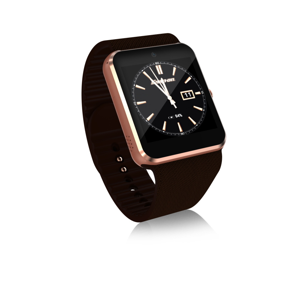 3G QW08 Smart Horloge 1.54 inch Scherm Android 4.4 MTK6572 1.2 GHz Dual Core 512 MB RAM 4 GB ROM Bluetooth 4.0 Android SmartWatch - 2