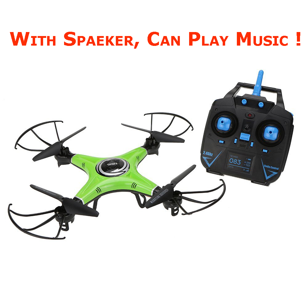 Original JJRC H5M 2.4G 4CH 6 Axis Gyro RC Quadcopter Music Play Drone with Speaker CF Mo ...