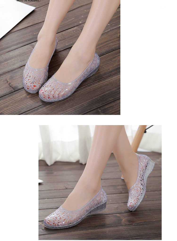 Hotsale Summer Women Beach Shoes 2018 Casual Plastic Jelly shoes ... 054802d83089