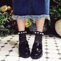 Vintage Glitter Cebollas de Plata Calcetines Perla Abalorios Femenino Calcetines