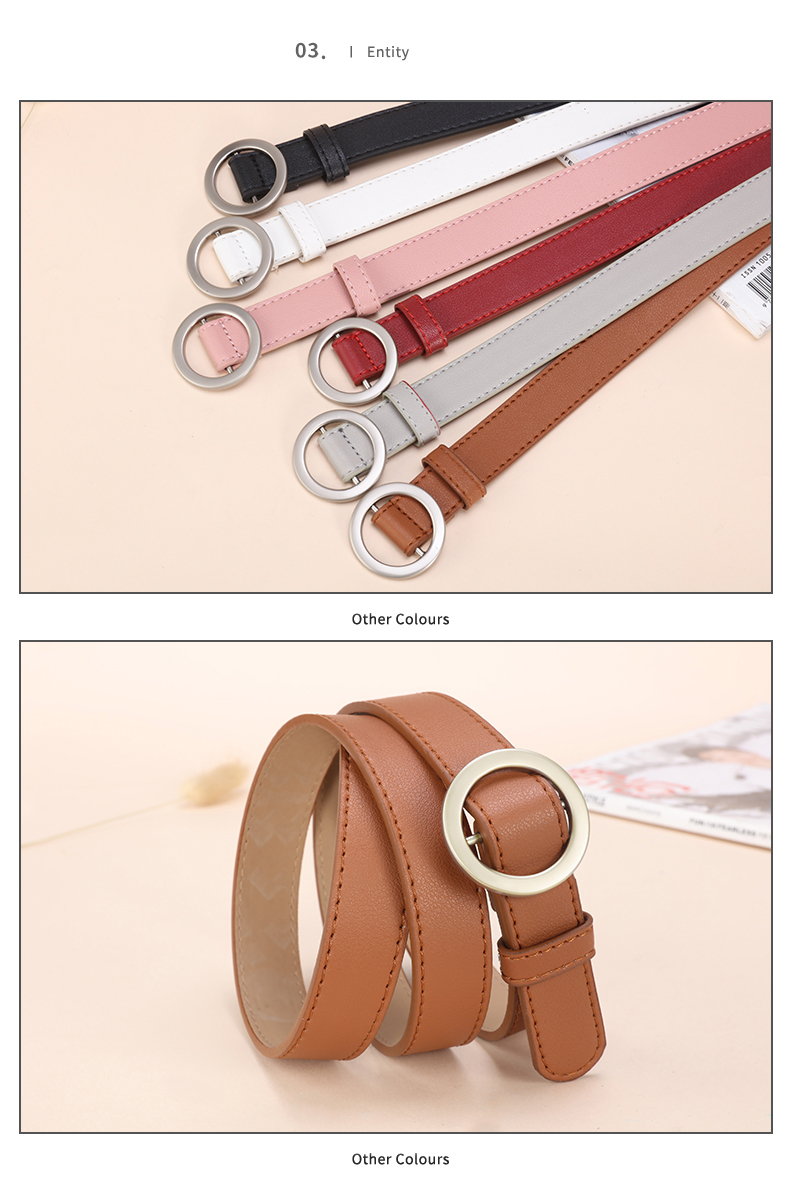 HTB17lLrTjTpK1RjSZKPq6y3UpXaF - JIFANPAUL ladies simple versatile belt ladies pure leather fashion punk round pin buckle decorative jean thin belt