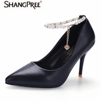 SHANGPREE Party Shoes Woman High Heels Bridal Shoes Beaded Sexy Women Shoes High Heels Designer Women