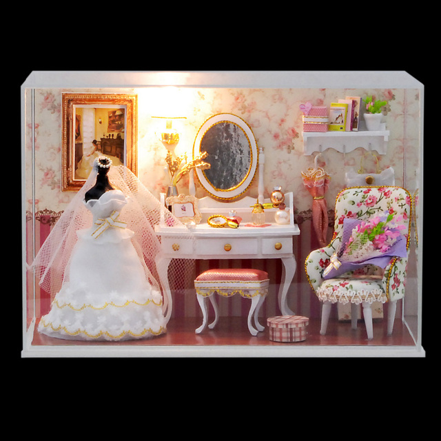 CuteRoom T-001 Love You Forever DIY Dollhouse Kit Miniature Model With Light Cover Best Chrismas Gift For Children Girls