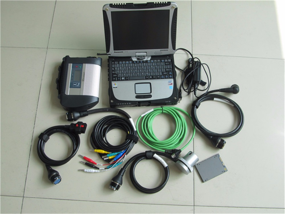 MB Star SD Connect Compact 4 with 360G SSD Software for mb star c4 with Laptop <font><b>CF</b></font>-<font><b>19</b></font> Military <font><b>Toughbook</b></font> image