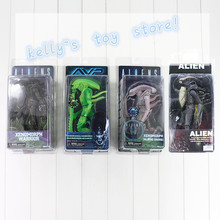 NECA AVP Xenomorph Warrior Series Alien vs. Predator Thermal Vision Albino Drone PVC Action Figure Toy(China)