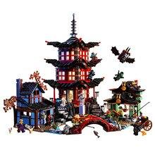 Ninja Temple de Airjitzu Ninjagoes Version Plus Petite Bozhi 737 pcs Blocs Set Compatible avec LXgo Jouets pour Enfants Briques de Construction