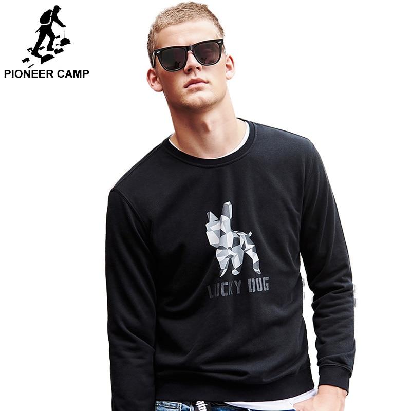 Billiger Preis Pioneer Camp Frühling Hoodies Sweatshirt Männer Marke Kleidung Mode Bulldog Gedruckt Sweatshirt Qualität Awy901021