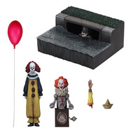 NECA Stephen King's It 2017 Ultimate Pennywise Accessory Set PVC Action Figure Collectible Model Toy Birthday Gift For Kids