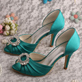Wedopus MW344 New Open Toe Olive Green Shoes Bridal Wedding Women Bridesmaid Pumps