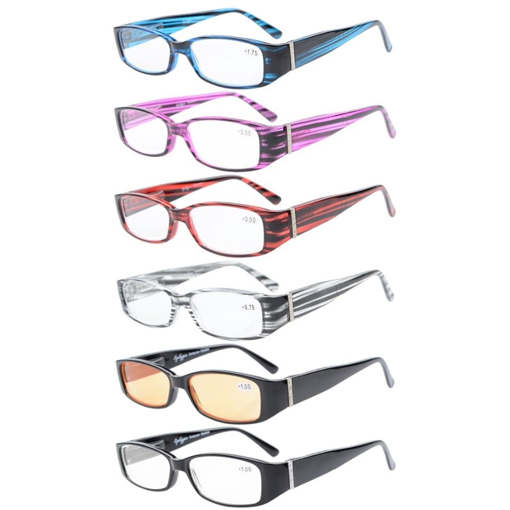 r081 6 pack mix eyekepper temple reading glasses