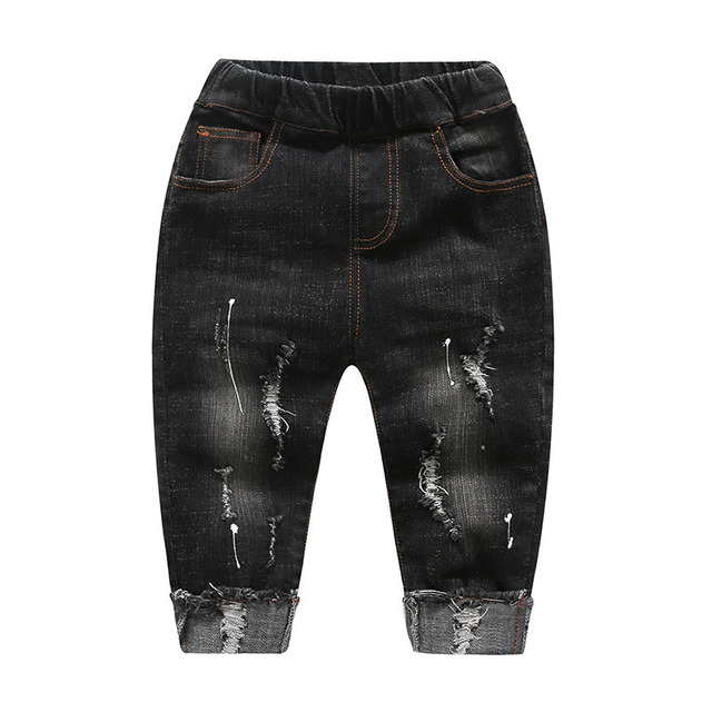 e6cb2b0fb 2019 Children Broken Hole Pants Unsex Spring Autumn Jeans for Girls Boys  Ripped Jeans for Kids Trausers Winter Children Clothing