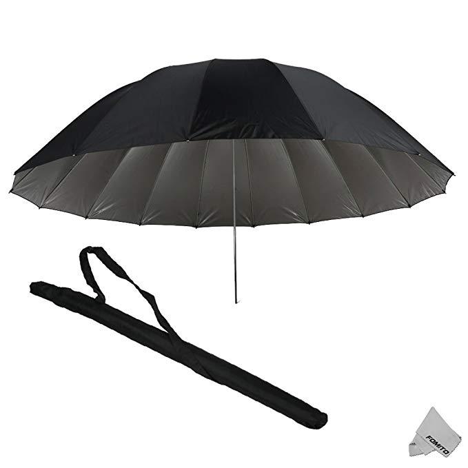 Fomito 75 Mega Parabolic Flash Reflector Umbrella Silver black