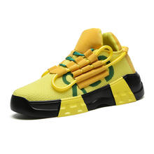Mesh Men  Coconut Elevator Shoes Flying Woven  Sport Fashion Running Lightweight Breathable Walking Sneakers