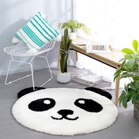 Multi function cute Panda head shaped mat for kitchen, door mat ,round shaped 100cm rug ,decoration carpet for children room