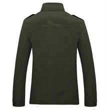 Men Army Military Jacket Male Washing 100% cotton leisure jacket Mens Autumn Winter Casual Coats Plus siz 4XL Jaqueta Masculina