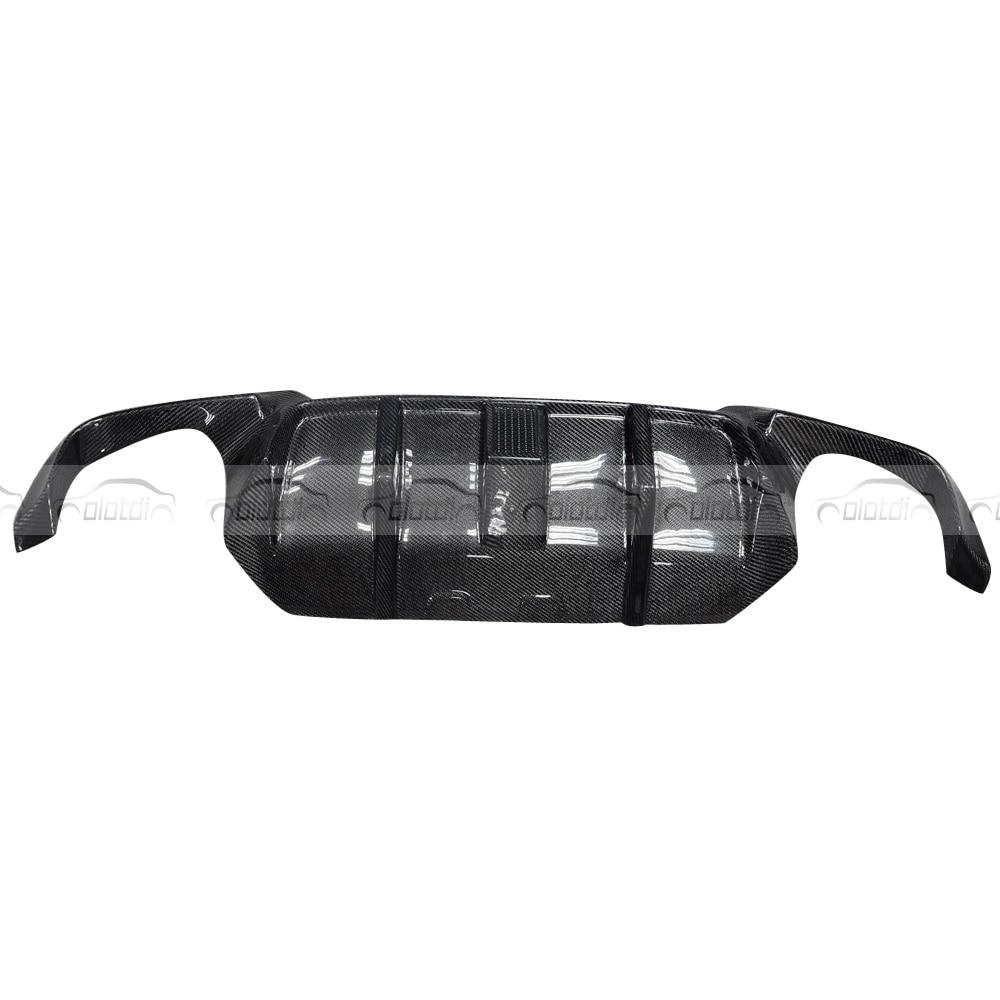 V стиль, настоящий автомобильный диффузор из углеродного волокна, задняя губка для BMW F10 M5, задний бампер, спойлер, фартук для автомобиля, стильный светодиодный светильник - 3