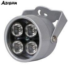 AZISHN ИК осветитель светильник 850nm 4 массива светодиодов Инфракрасный Водонепроницаемый ночного видения CCTV заполняющий светильник DC 12 В для камеры видеонаблюдения