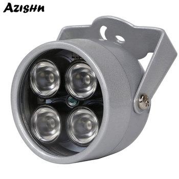 AZISHN oświetlacz ir światła 850nm 4 diody led na podczerwień wodoodporny noktowizor CCTV światła wypełniającego DC 12V dla kamera do monitoringu CCTV tanie i dobre opinie CCTV LEDS 12V 2A