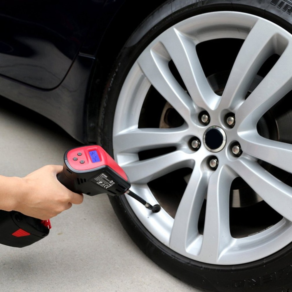 Digital Display Pump Inflator Electric Handheld Electric Vehicle Car Tire Inflatable Emergency Air Pressure Inflator Air Pump