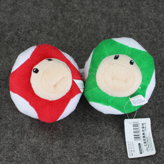 4inch 10CM Super Mario Bros Mushroom Mini Charm Stuffed Dolls Plush Keychains Pendants Free Shipping