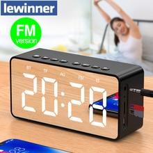 Lewinner BT506F Bluetooth динамик супер бас беспроводной стерео звук поддержка TF AUX FM зеркало будильник Громкий динамик для телефона