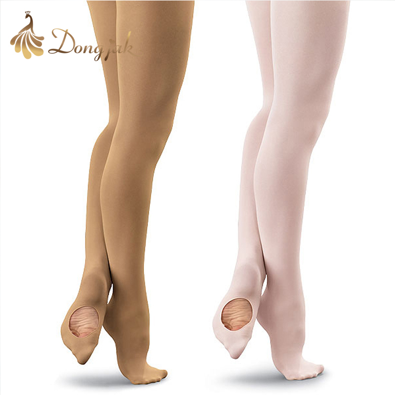 2016 Νέα Άφιξη Νέο μοναδικό κορίτσι ενηλίκων Λευκό / δέρμα Βελούδινο μπαλέτο Καλσόν Κάλτσες Slim Dance Wear T-2002