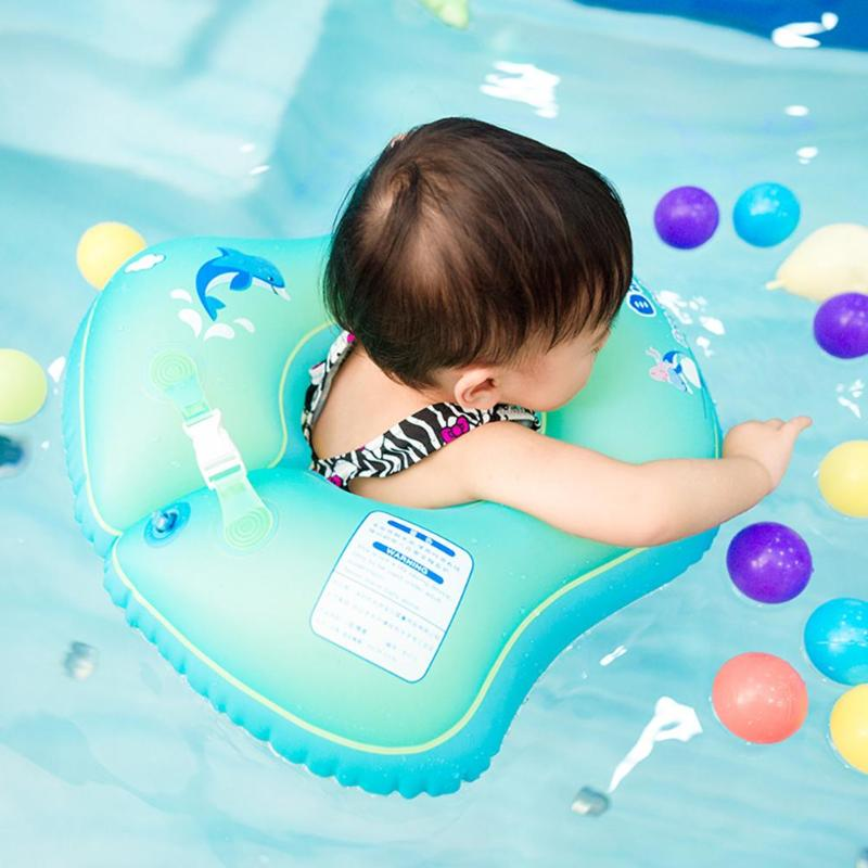 Fresh Green Baby Floating Swimming Ring Kid Inflatable Pool Bathtub Trainer Floats Seat 4 Size For Kids Play Funny