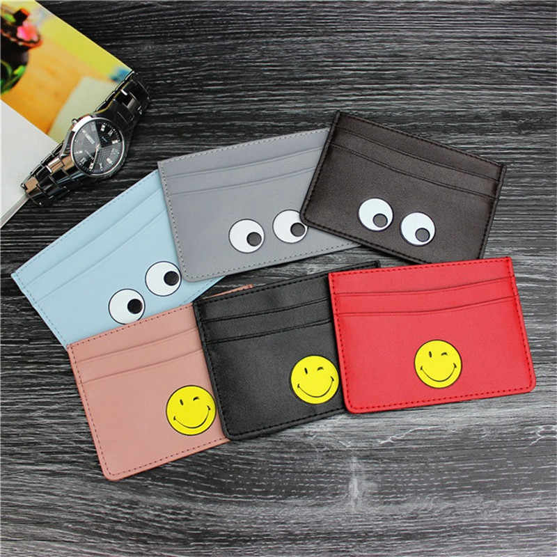 Fashion Little Monster Kaarthouder Case PU Leather Pocket Pouch Business Travel Card Portefeuilles Voor ID Creditcard Kaarthouder Zak