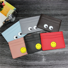 Fesyen Little Monster Card Holder Case PU Leather Pocket Pouch Perniagaan Travel Dump Card Untuk Kad Kredit ID Cardholder Bag
