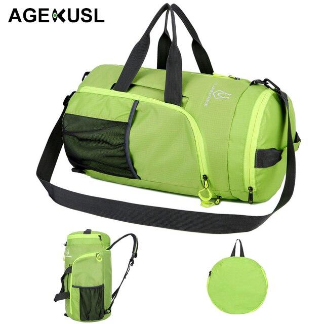 8751e867b7 AGEKUSL 4 IN 1 Foldable Sport Bags Training Gym Climbing Camping Hiking Bag  Backpack Portable Lightweight