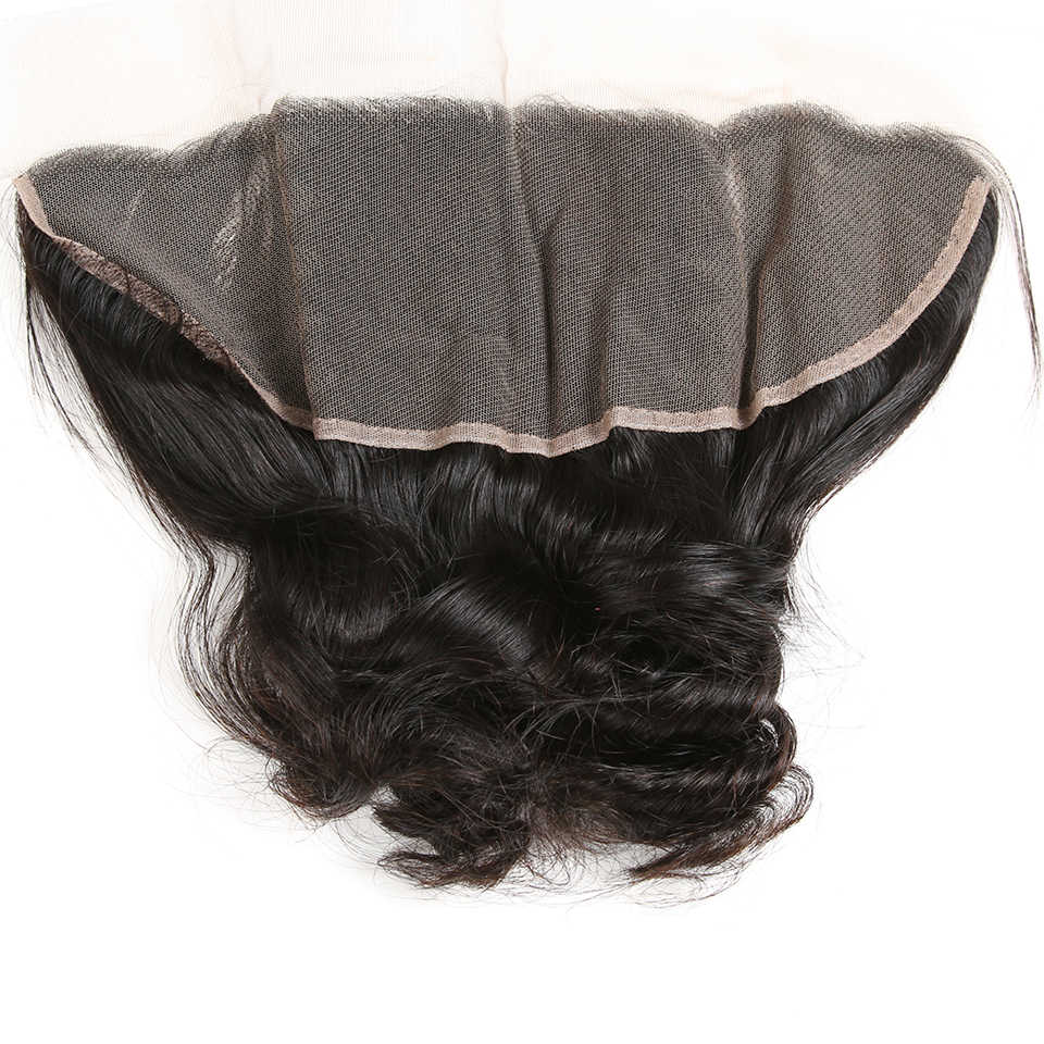 Karizma Indian Loose Wave Bundles With Frontal Lace Closure 13X4 Human Hair Weaves With Frontal Closure 4 Pcs Non Remy Hair