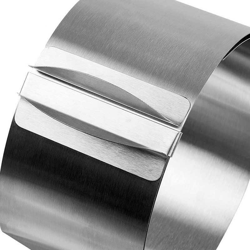 16-30 Centimetri a Scomparsa in Acciaio Inox Cerchio Mousse Strumento Fuochi di Cottura Set Torta di Dimensioni Dello Stampo Regolabile da Dessert Decorazione di Una Torta strumenti