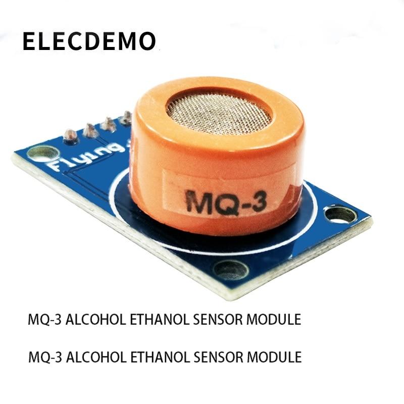 MQ-3 Alcohol Sensor Module Alcohol Ethanol Gas Sensitive Detection Alarm Compatible With Arduino Alcohol Gas Sensing Alarm