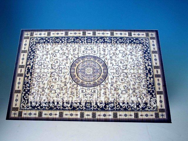Factory supply The Middle East style color printed Bamboo carpet