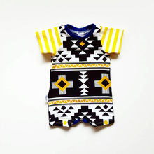 Newborn Infant Baby Boys Summer Clothes Geometric Cotton Short Sleeve Romper Jumpsuit Playsuit Outfits Clothes 0-18M