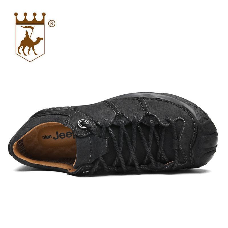 BACKCAMEL äkta läder utomhus man casual skor manliga skor andas - Herrskor - Foto 5