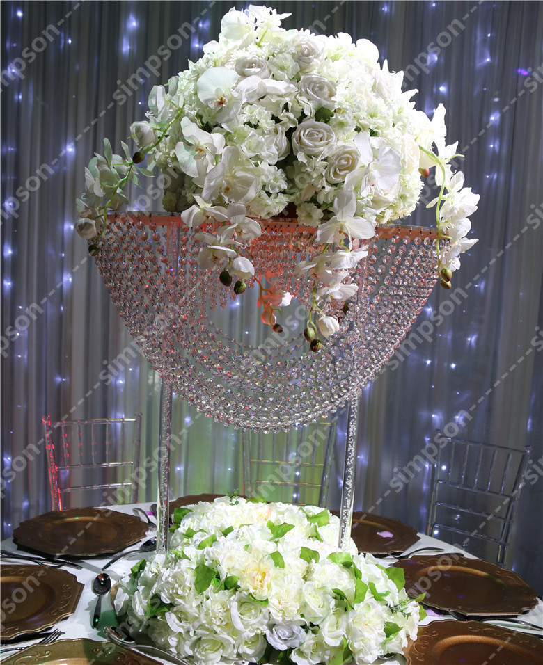2pcs/lot Free shipment acrylic wedding centerpiece flower