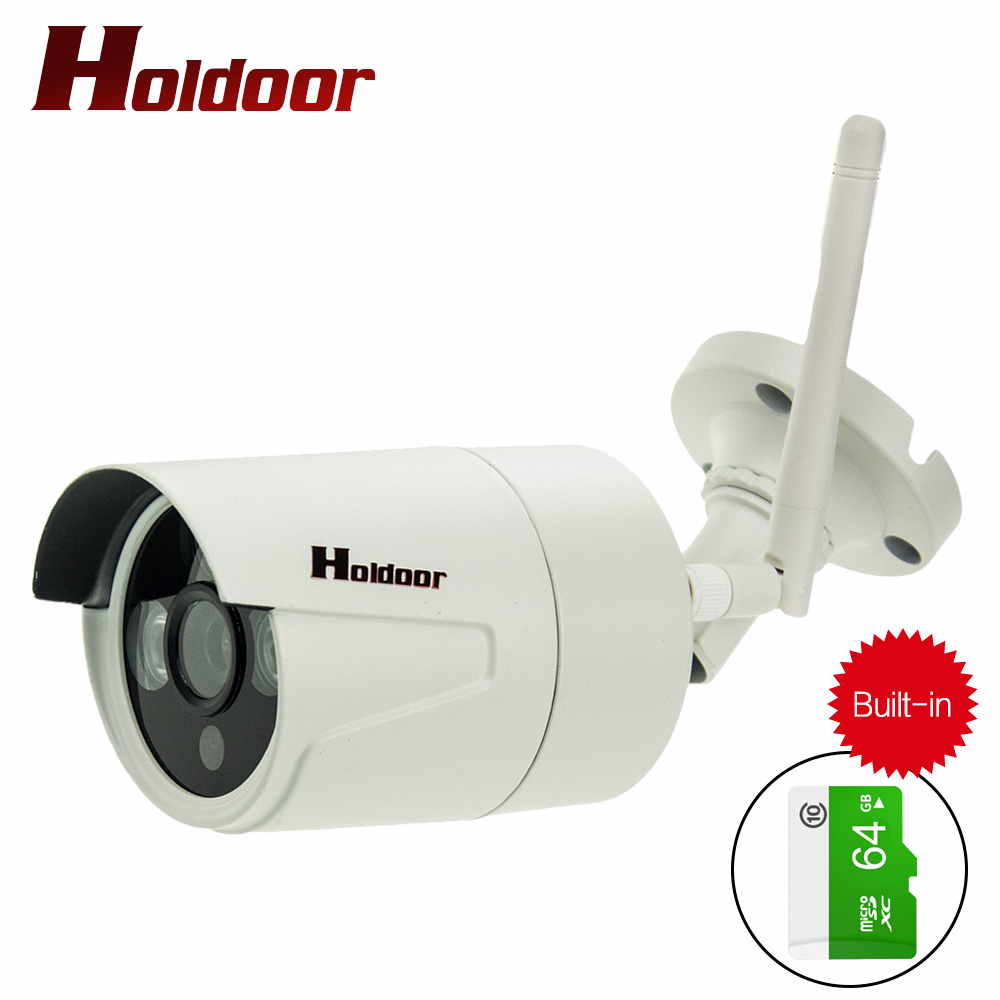 1080P WIFI IP Camera Waterproof HD Network 2.0MP wifi camera nignt vision Outdoor wireless ip camera Built-in 64GB Memory Card 720p wifi ip camera waterproof hd network 2mp lens wifi camera day nignt vision in outdoor ip camera with free power adapter