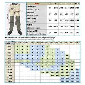Image 5 - Orijinal JEERKOOL sinek balıkçı pantolonu ayakkabı keçe taban ve bel pantolon kemer su geçirmez avcılık Suit tulum sığ yukarı botları