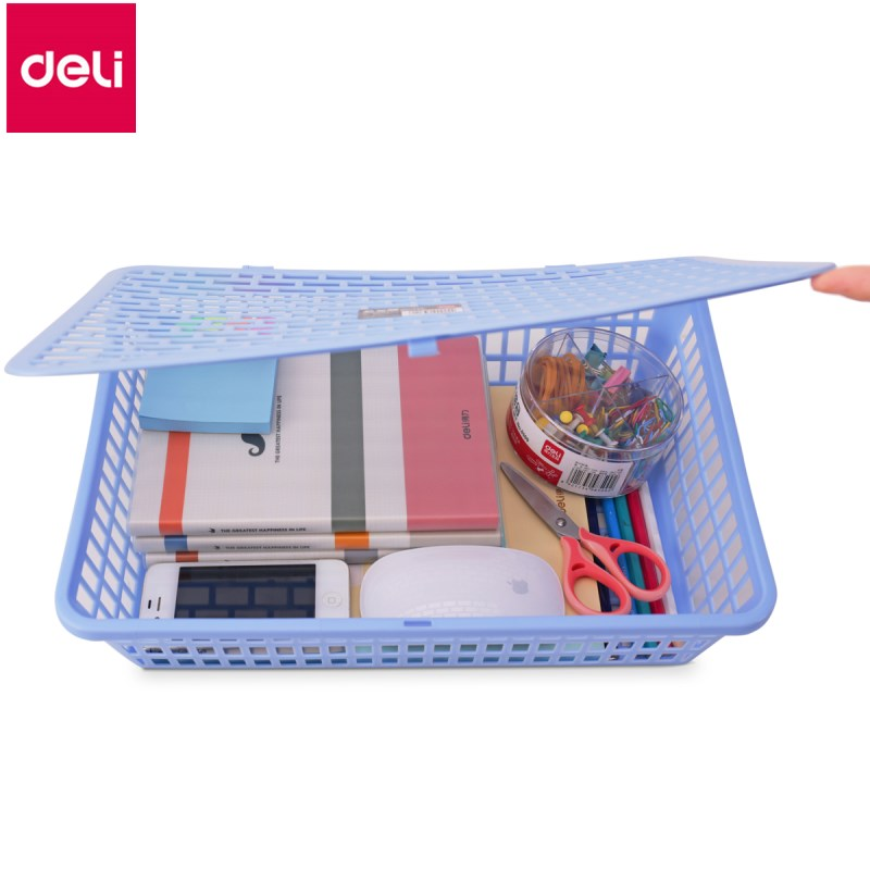 Deli 1pc document basket A4 storage box financial accounting documents voucher collection box office supplies inventory accounting