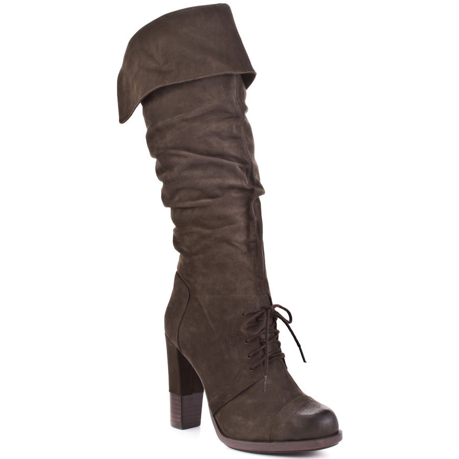 Online Get Cheap Dark Brown Leather Boots Women -Aliexpress.com