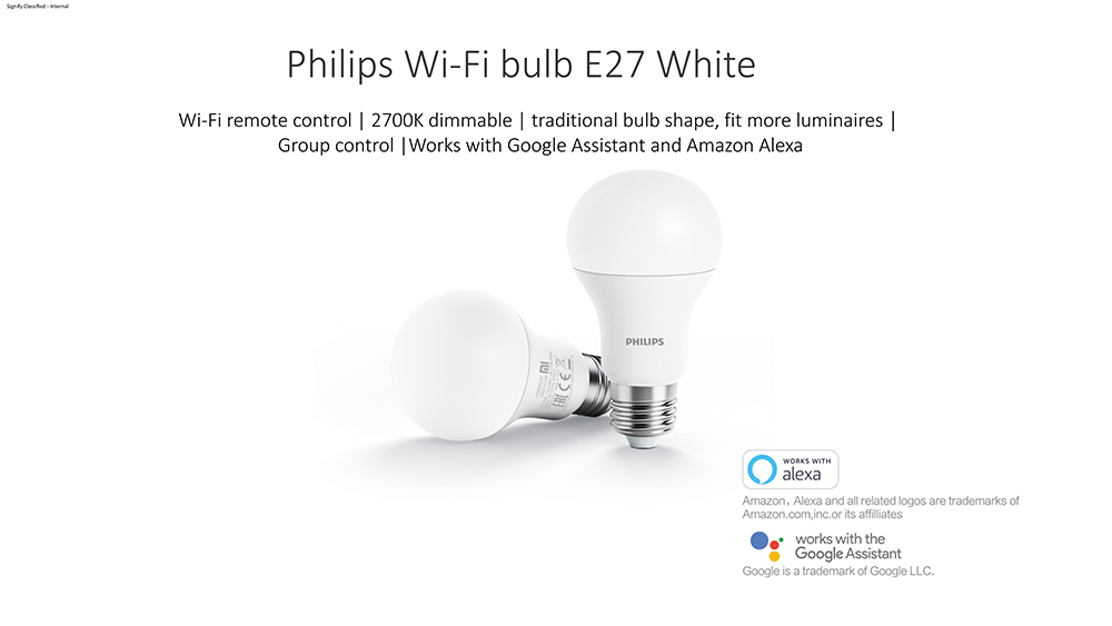 Xiaomi Philips Smart WiFi LED Bulb White E27 4