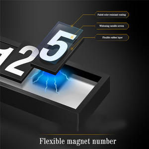 Image 4 - Car Styling Car Phone Number Plate Temporary Car Parking card with Switch 3D Hidden Mobile Cell Phone Number Card Car Sticker