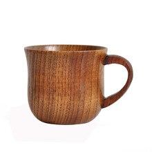 Деревянная чашка, примитивная, ручная работа, из натурального дерева, для кофе, пива, сока, молока, чая, кружка, должна иметь прочные стаканы, горячая Распродажа