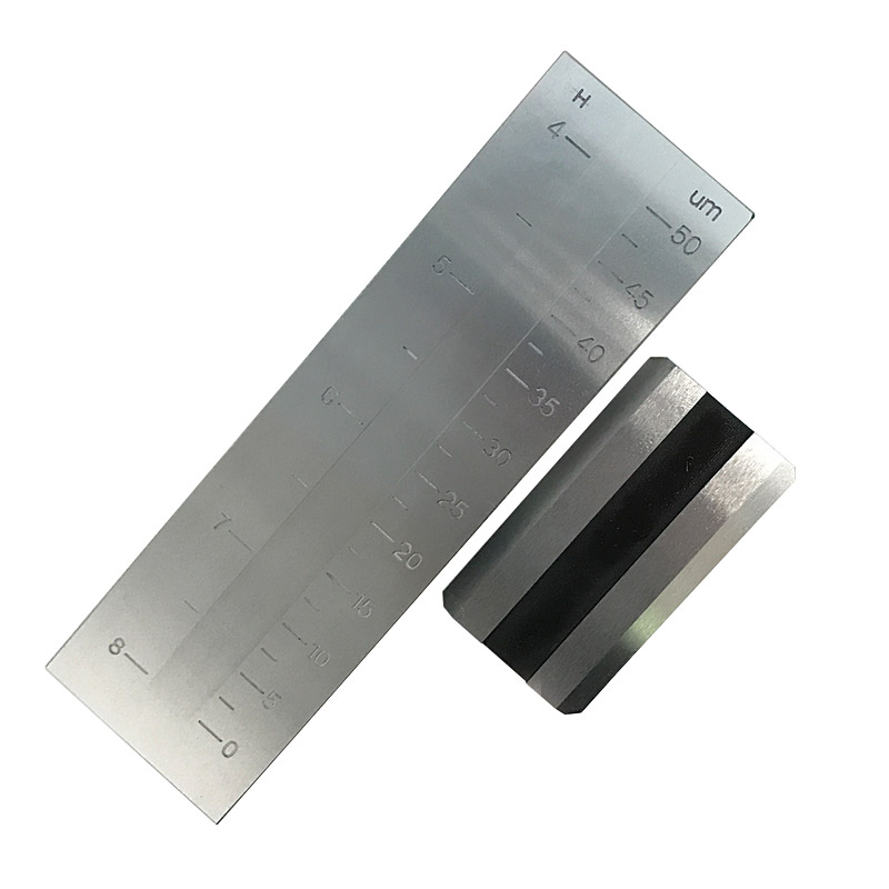 0-50um Stainless Steel PUSHEN Single Groove Fineness Of Grind Gauge Hegman For Coating